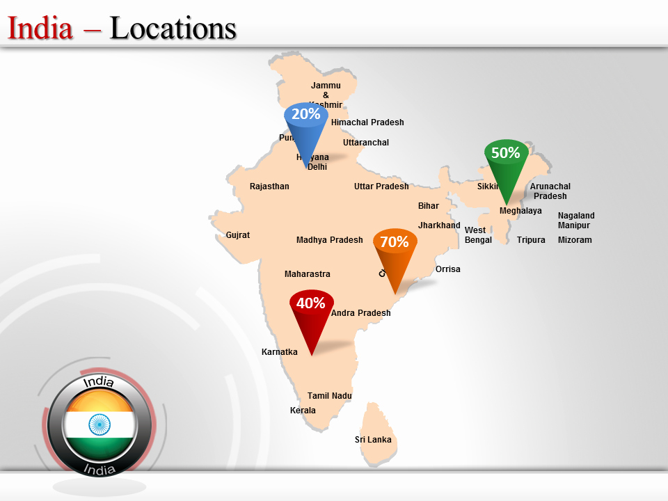 Interactive Us Maps for Powerpoint Beautiful India Map Ppt Powerpoint Map India India States and