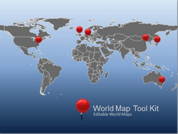 Interactive World Map for Powerpoint Awesome Animated World Map toolkit for Powerpoint