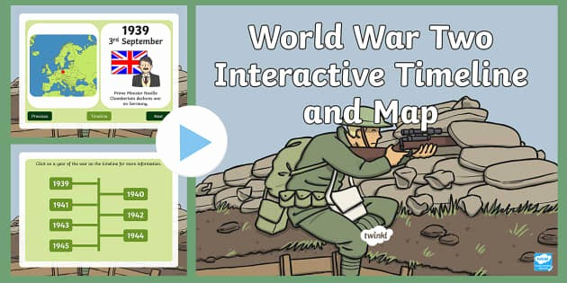 Interactive World Map for Powerpoint Beautiful World War Two Interactive Timeline and Map Powerpoint World