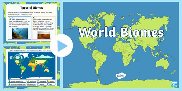 Interactive World Map for Powerpoint Fresh Interactive World Biomes Map Powerpoint Climates Geography