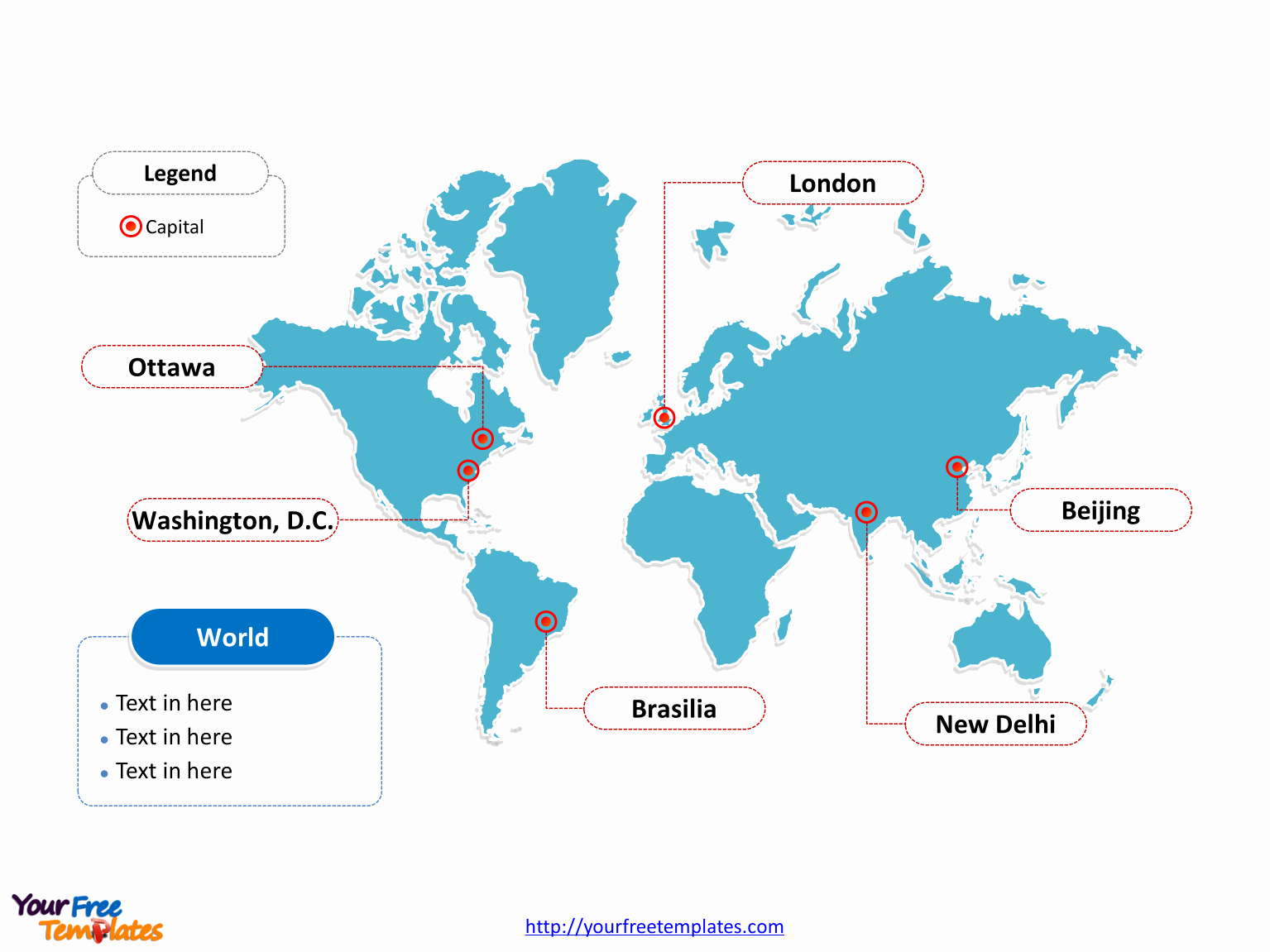 Interactive World Map for Powerpoint Fresh World Map Free Powerpoint Templates Free Powerpoint