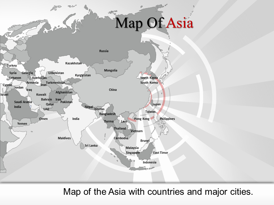 Interactive World Map for Powerpoint New Powerpoint Map Of asia Interactive Map Of asia Ppt World
