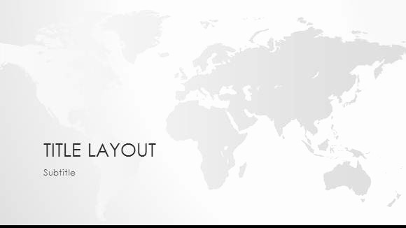 Interactive World Map for Powerpoint Unique Free World Map Black & White Template for Powerpoint