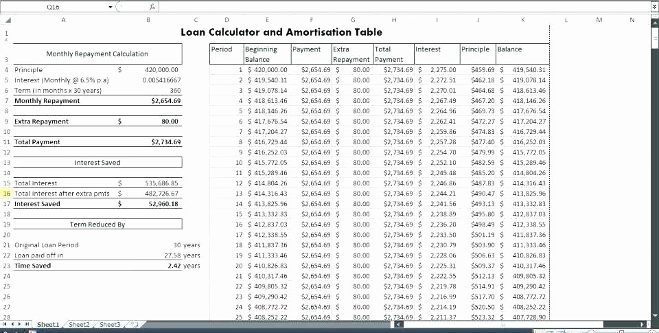 Interest Only Amortization Schedule Excel Awesome Interest Ly Loan Calculator Excel Printable Amortization