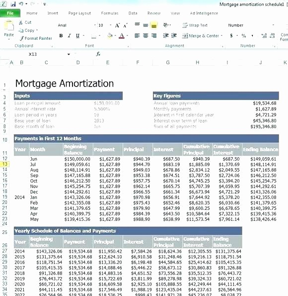 Interest Only Amortization Schedule Excel Awesome Mortgage Calculator with Extra Payments Excel Car Payment