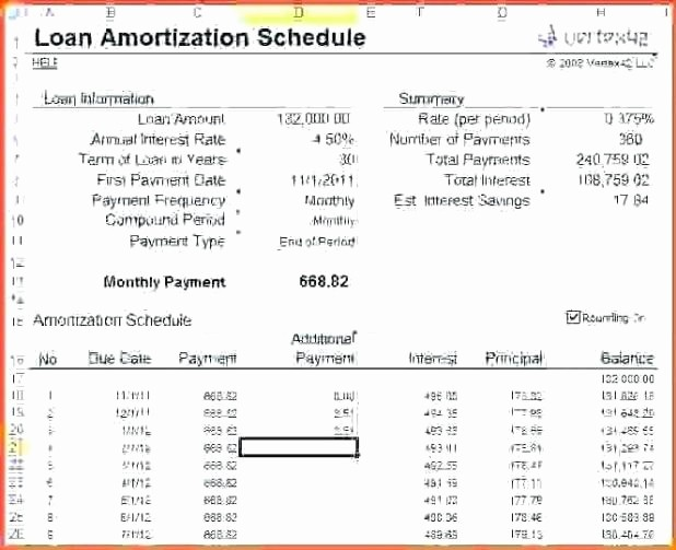 Interest Only Amortization Schedule Excel Elegant Interest Ly Amortization Table Excel
