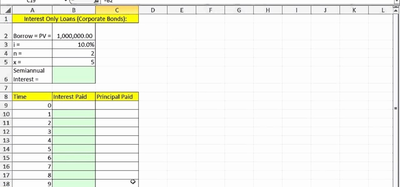 Interest Only Amortization Schedule Excel Inspirational How to Create An Interest Only Loan Schedule In Microsoft