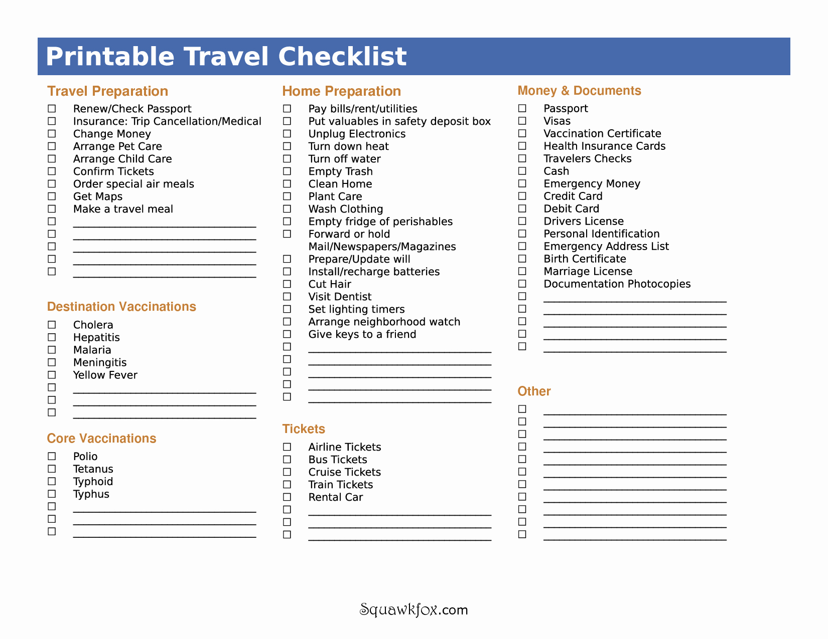 International Travel Packing List Template Awesome 5 Best Of International Travel Checklist Printable
