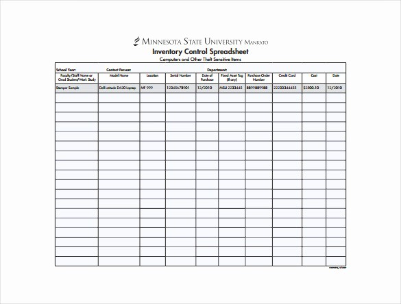 Inventory Control Spreadsheet Template Free Fresh 14 Sample Inventory Spreadsheet Templates Pdf Doc
