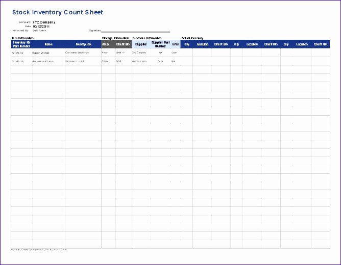 Inventory Count Sheet Template Free Inspirational 6 Free Excel Inventory Template Exceltemplates
