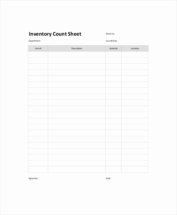 Inventory Count Sheet Template Free Inspirational Inventory Count Sheet Template 8 Free Word Pdf