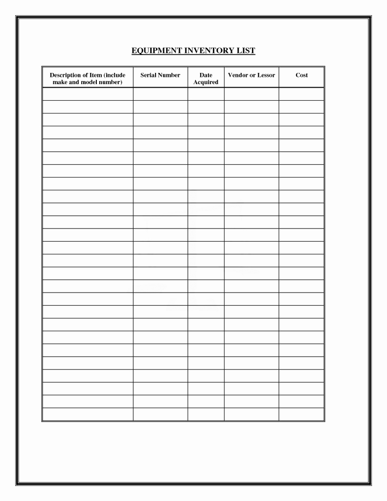 Inventory forms for Small Business Awesome Inventory List Inventory Template Trakore Document Templates