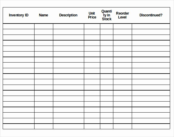 Inventory forms for Small Business Beautiful 18 Stock Inventory Control Templates Pdf Doc