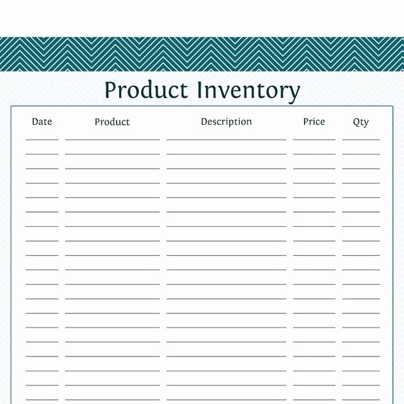 Inventory forms for Small Business Elegant Product Inventory Business Planner Printable Pdf