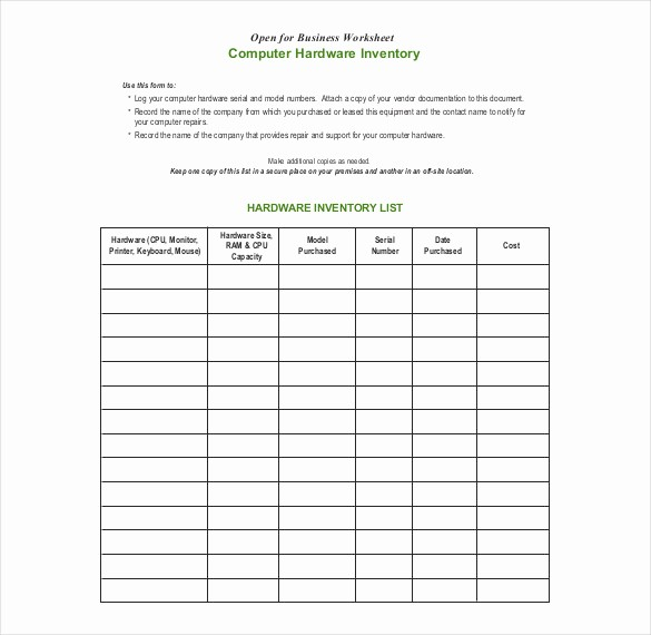 Inventory forms for Small Business Inspirational 20 Inventory form Templates – Free Sample Example