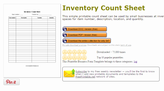 Inventory forms for Small Business New Websites to Get Free Inventory Template