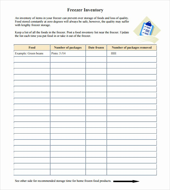 Inventory List Template Free Download Awesome 10 Food Inventory Samples