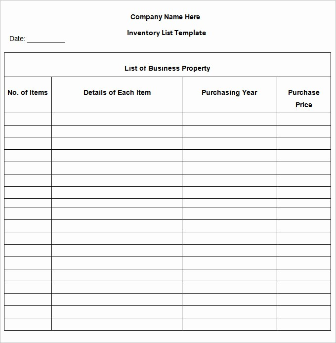 Inventory List Template Free Download Awesome Inventory List Template 13 Free Word Excel Pdf