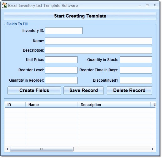 Inventory List Template Free Download Elegant Free Download Excel Inventory List Template software 7 0
