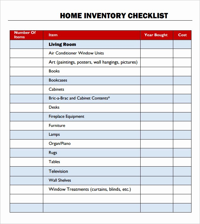 Inventory List Template Free Download Elegant Inventory Checklist Template 24 Free Word Excel Pdf