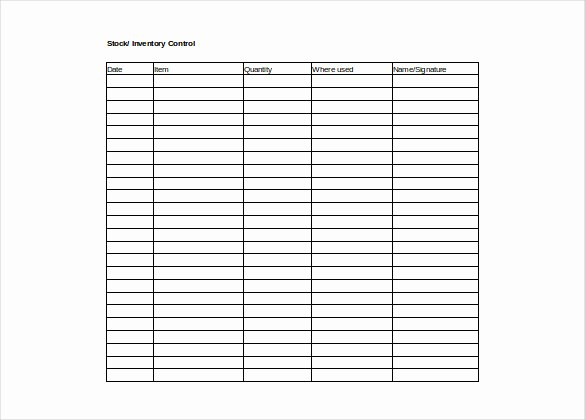 Inventory List Template Free Download Elegant Inventory Spreadsheet Template 5 Free Word Excel