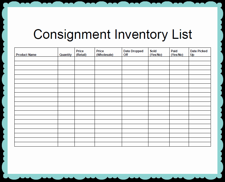 Inventory List Template Free Download Inspirational Inventory Template