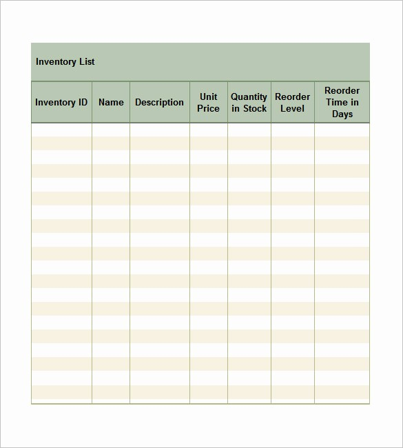 Inventory List Template Free Download New Free Excel Template – 27 Free Excel Documents Download