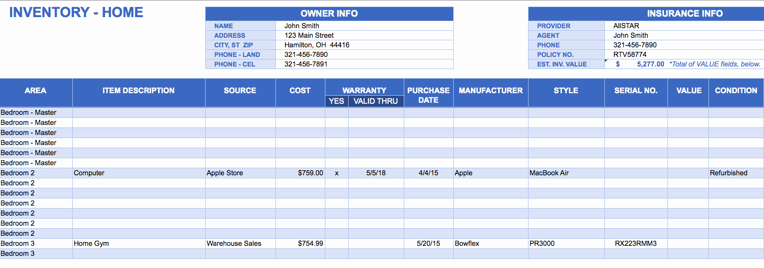 Inventory List Template Free Download Unique Free Excel Inventory Templates