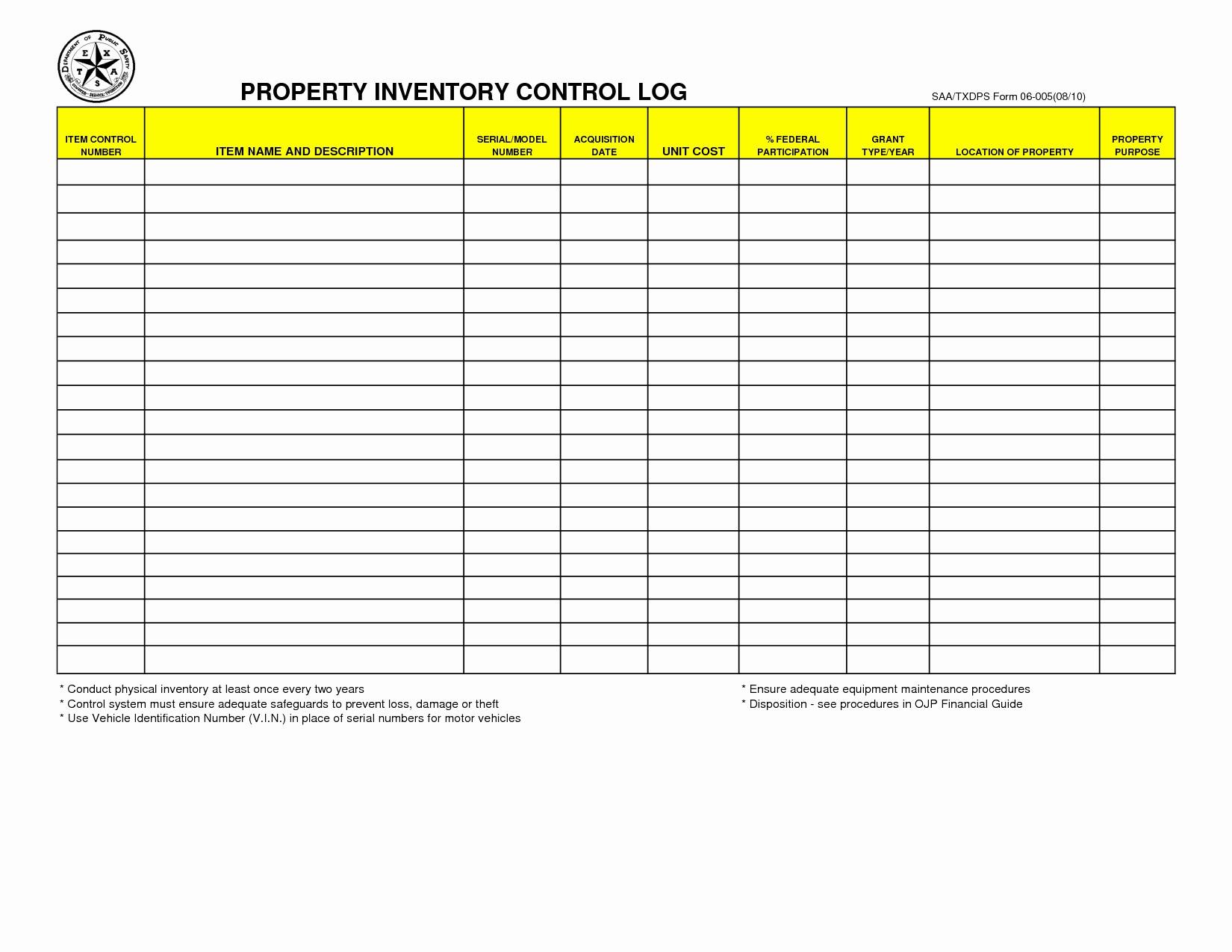 Inventory Log Sheet Excel Template Awesome Printable Blank Inventory Spreadsheet Inventory Spreadshee
