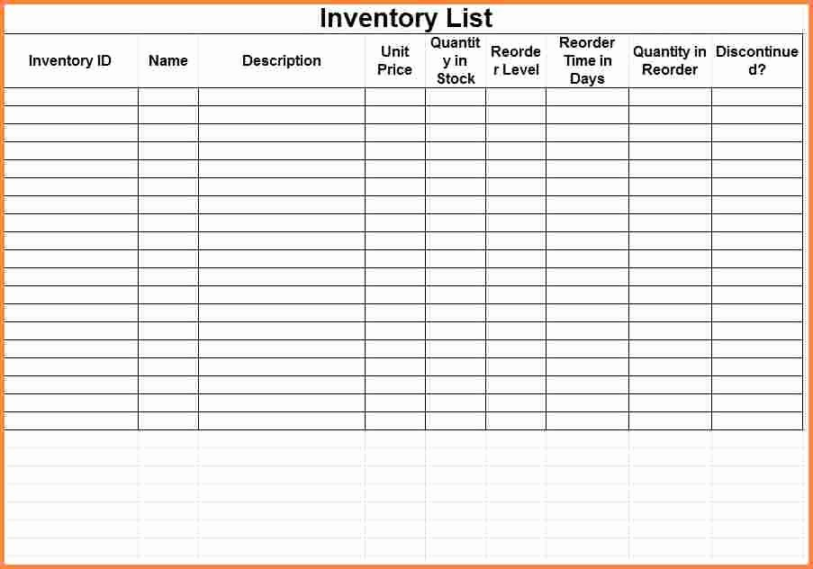 Inventory Log Sheet Excel Template Lovely 3 Printable Inventory Spreadsheet