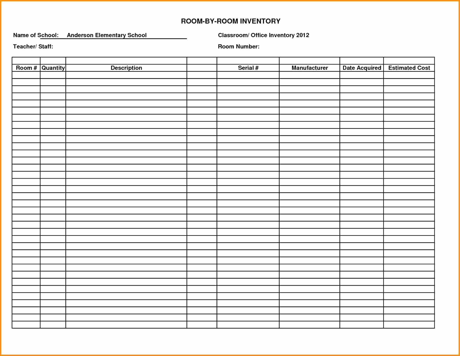 Inventory Log Sheet Excel Template Unique Template Uniform Inventory Template