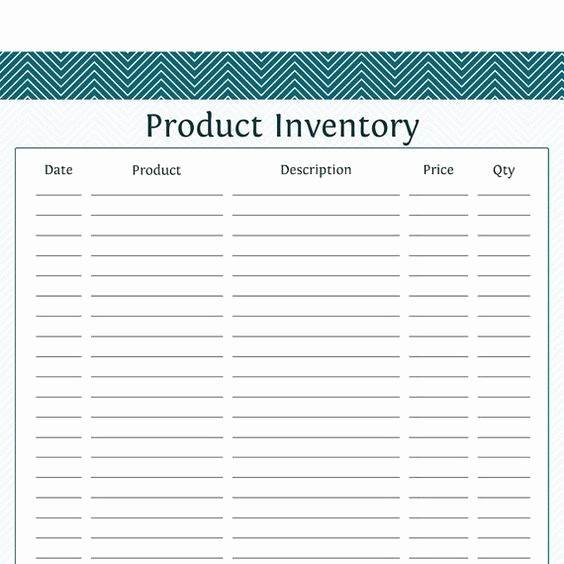 Inventory Sheets for Small Business Awesome Product Inventory Business Planner Printable Pdf