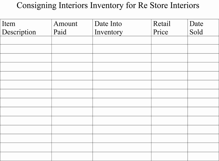 Inventory Sheets for Small Business Lovely Inventory Sheets and My Booth Store