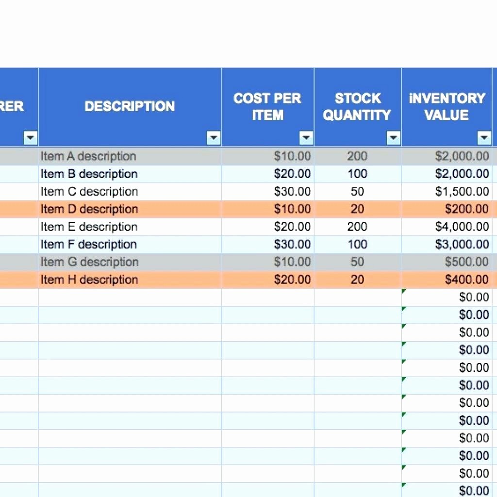 Inventory Sheets for Small Business Luxury Small Business Inventory Spreadsheet – Amandae