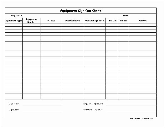 Inventory Sign Out Sheet Excel Lovely Sign Out Sheet Template Excel Free Restaurant Inventory