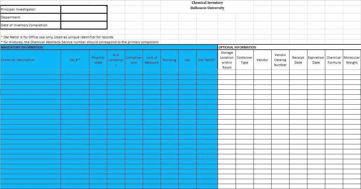 Inventory Sign Out Sheet Excel Unique Excel Inventory Template with formulas Luxury 48 Lovely S