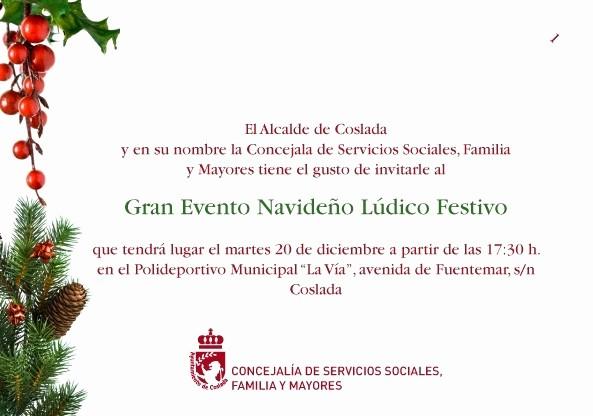Invitacion Para Fiesta De Navidad Awesome Grupo Agd Navidad En Coslada