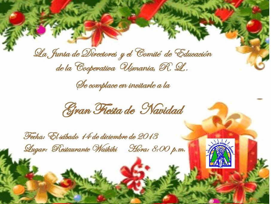 Invitacion Para Fiesta De Navidad Beautiful Usmania R L