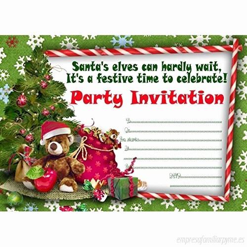 Invitacion Para Fiesta De Navidad Best Of 10x Invitaciones Para Fiesta De Navidad B017pb0y7k