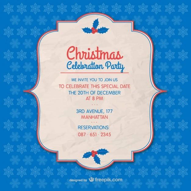 Invitacion Para Fiesta De Navidad Elegant Plantilla De Invitación De Fiesta De Navidad