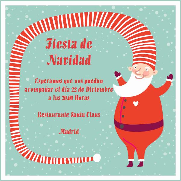 Invitacion Para Fiesta De Navidad Lovely Papa Noel Y Su Gorro