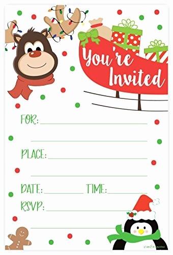 Invitacion Para Fiesta De Navidad Luxury Invitaciones De Fiesta De Navidad De Renos Estilo De Re