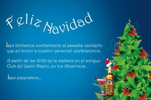 Invitacion Para Fiesta De Navidad Luxury Tarjeta Invitacion Navidad Nueva Lorenzo Gonzalez