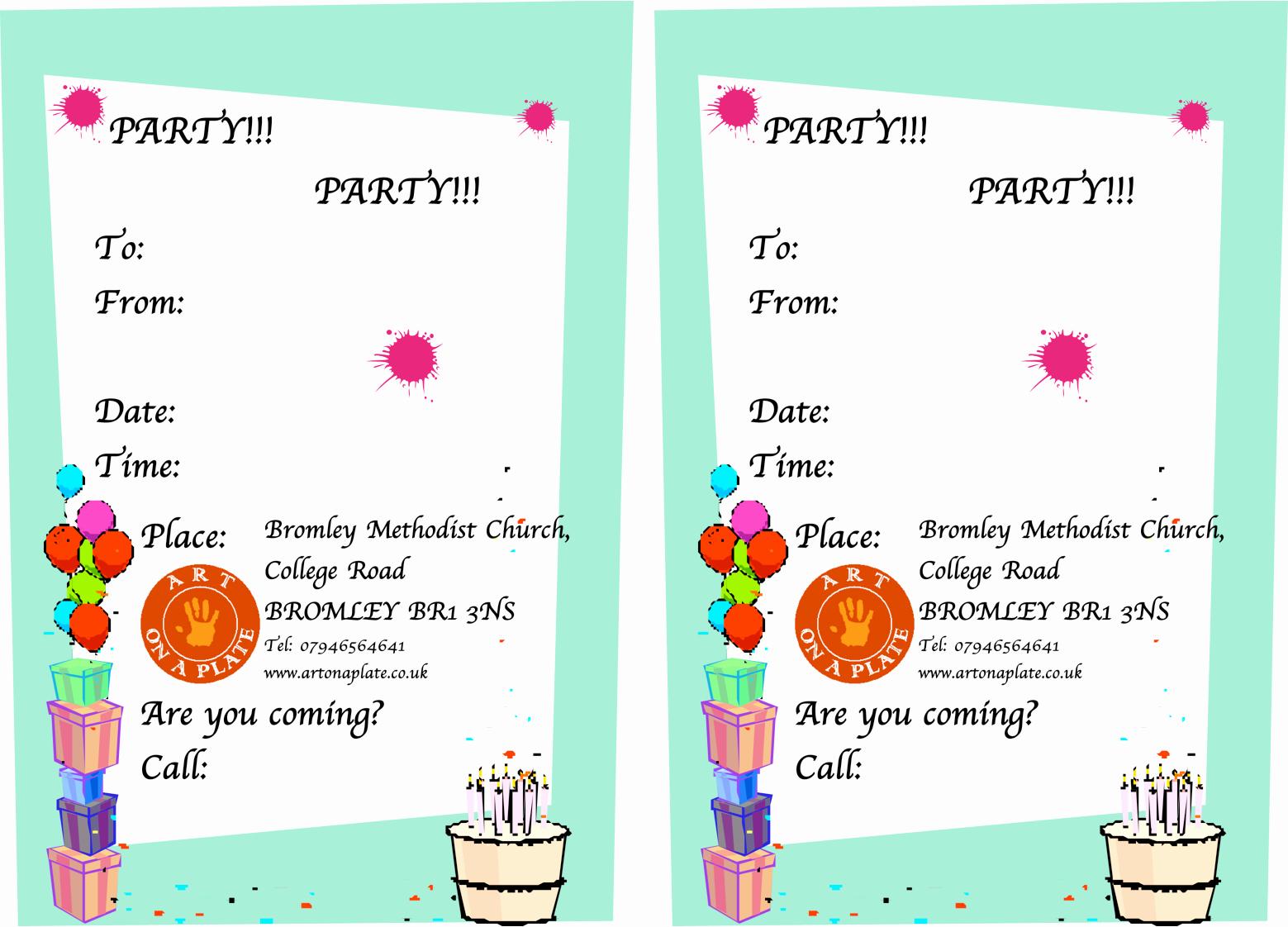 Invitation format for Birthday Party Beautiful Writing A Birthday Invitation