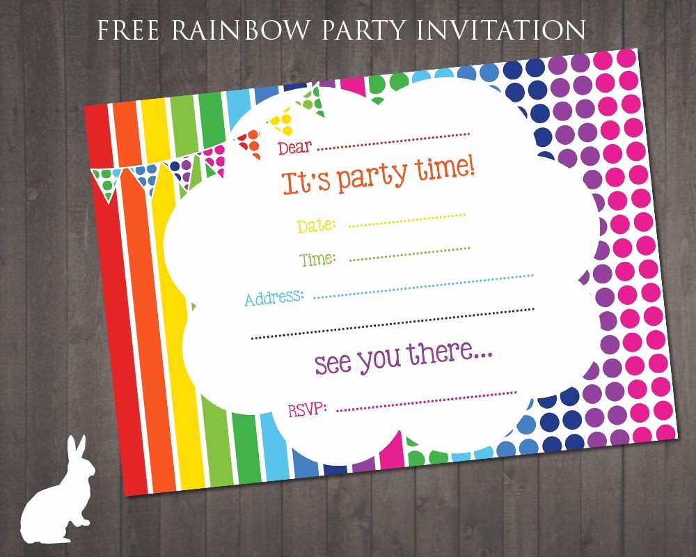 Invitation format for Birthday Party Fresh Birthday Invitation Template Free Birthday Party