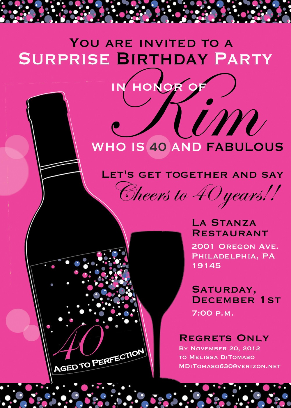 Invitation format for Birthday Party Inspirational 40th Birthday Party Invitation Wording