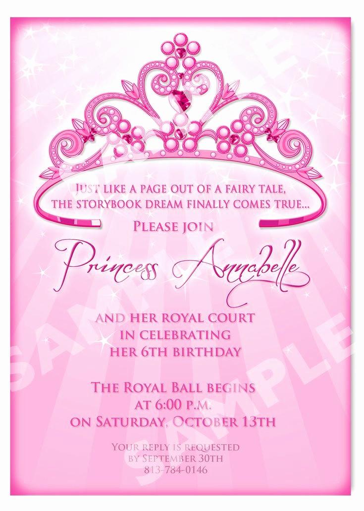 Invitation format for Birthday Party Inspirational Free Printable Princess Birthday Invitation Templates