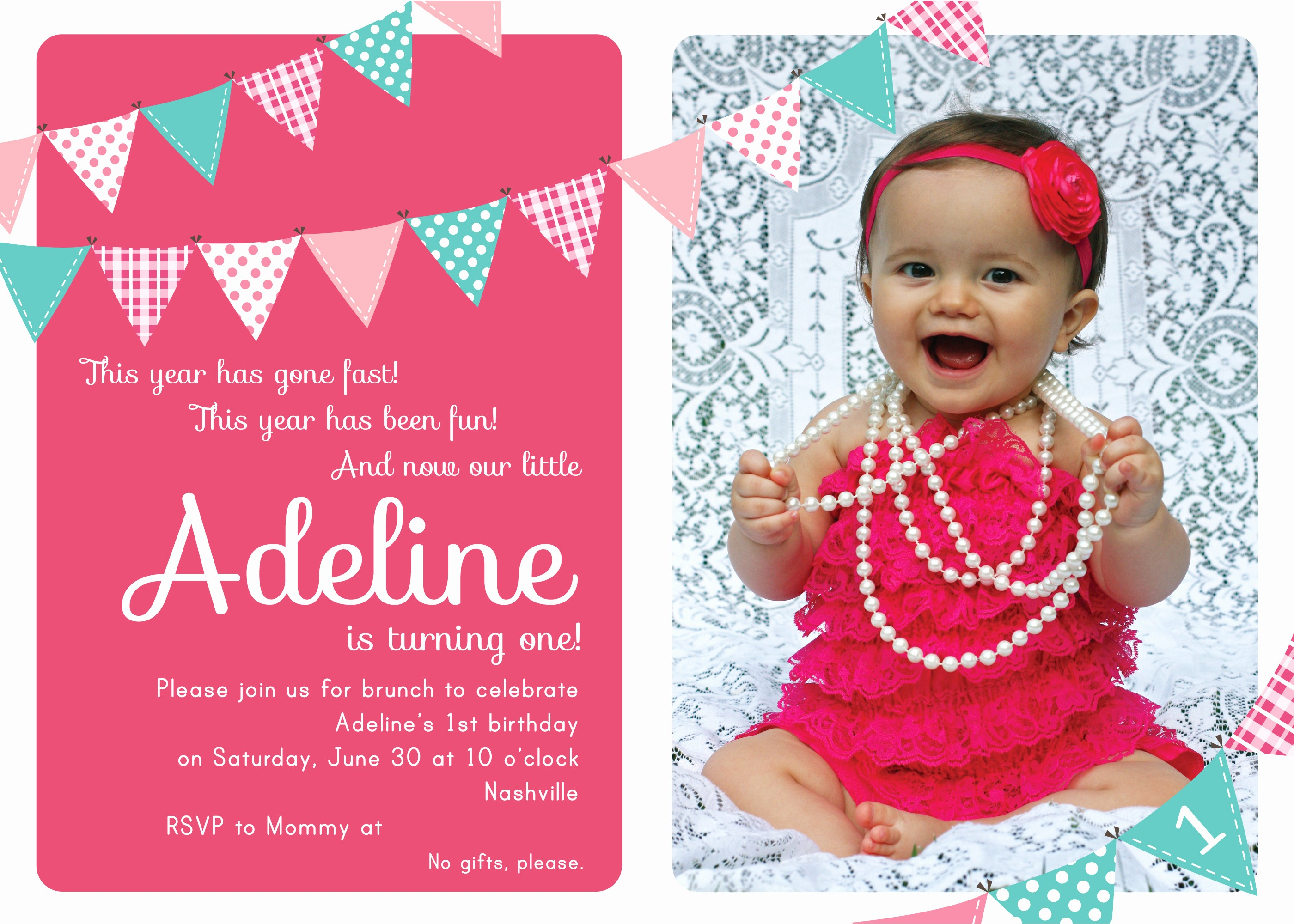 Invitation format for Birthday Party Lovely First Birthday Party Invitation Ideas – Bagvania Free