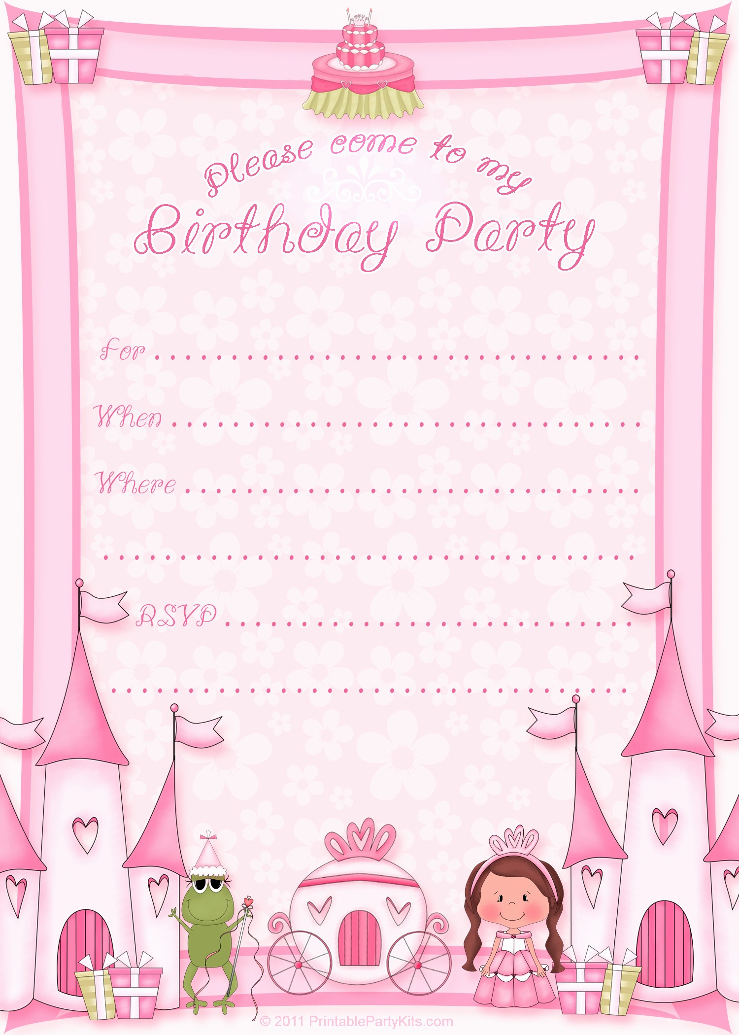 Invitation format for Birthday Party Luxury 50 Free Birthday Invitation Templates – You Will Love