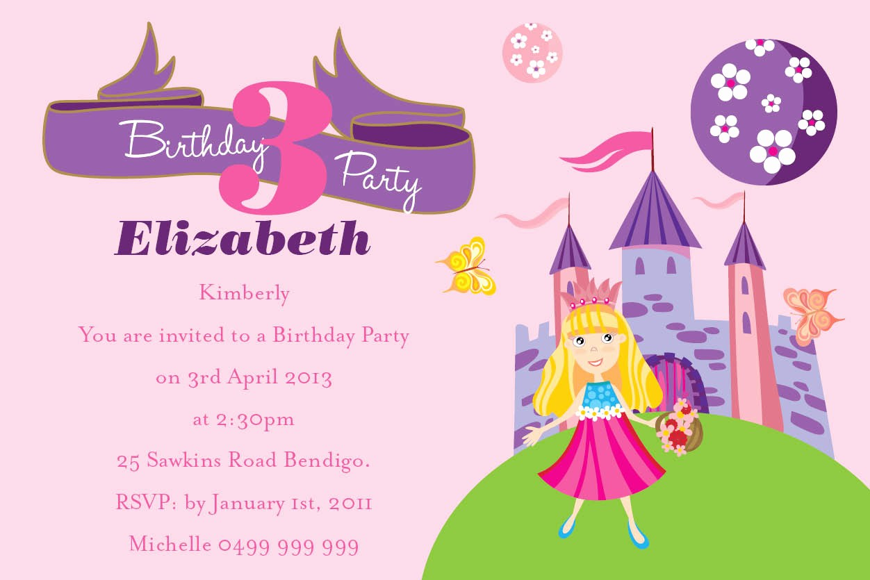 Invitation format for Birthday Party Luxury Birthday Invitation Wording for Kids